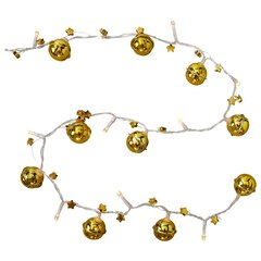 TWO'S COMPANY STRING LIGHT JINGLE BELL GOLD