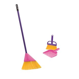 Little Helper Pink Broom Set