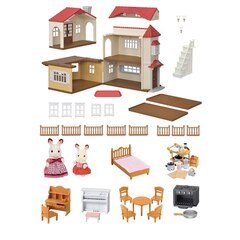 Callico Critters RED ROOF COUNTRY HOME GIFT SET