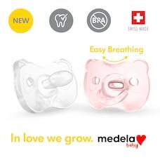 La nouvelle Sucette une pièce SILICONE SOUPLE Medela Baby est conçue pour soutenir la succion…