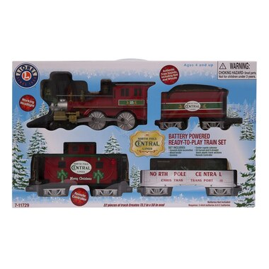 Lionel Read-To-Play Train Playset North Pole Central Freight
