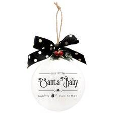 1742BH Santa Baby Quotaball Ornament