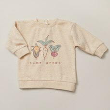 INDIGOBABY HOME GROWN CREWNECK - SIZE 6-12 MONTHS