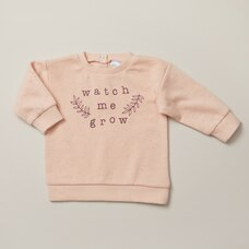 INDIGOBABY WATCH ME GROW CREWNECK  - SIZE 0-3 MONTHS
