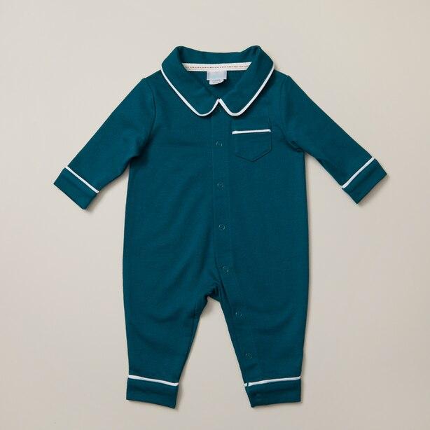 IndigoBaby Green PJ Suit Size 6-12 Months
