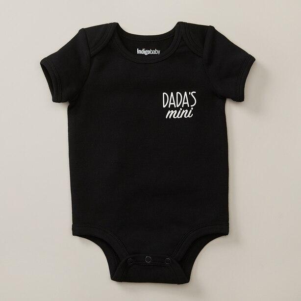 MONOCHROME BODYSUIT DADAS MINI, BLACK SIZE 6-12 MONTHS