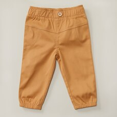 WOVEN JOGGERS, CAMEL 3-6 MONTHS