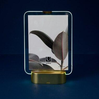 Umbra Glo Frame 5 X 7 Matte Brass By Umbra Desk Frames Gifts