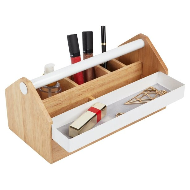 Umbra Toto Storage Box - Birch Wood & White