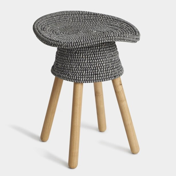 Coiled Stool - Grey