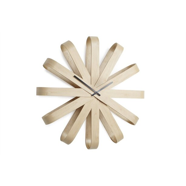 HORLOGE MURALE RIBBON – BOIS NATUREL