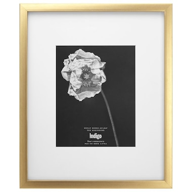 Gallery Frame Brushed Gold 8 X 10 Opening By Indigo Wall