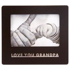 "EXPRESSIONS PICTURE FRAME LOVE YOU GRANDPA 4"" X 6"""