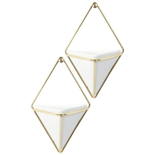 Umbra Trigg Wall Vessel Brass – Small