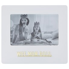 """EXPRESSIONS PICTURE FRAME WIFE MOM BOSS 4"""" X 6"""""""