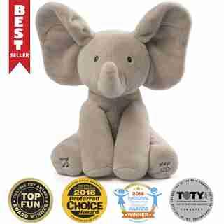 Baby GUND, Peluche animée Flappy l'éléphant, gris, 30,5 cm