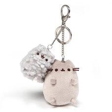 GUND, Attache porte-clé peluche de luxe Pusheen & Stormy, gris, 11,4 cm