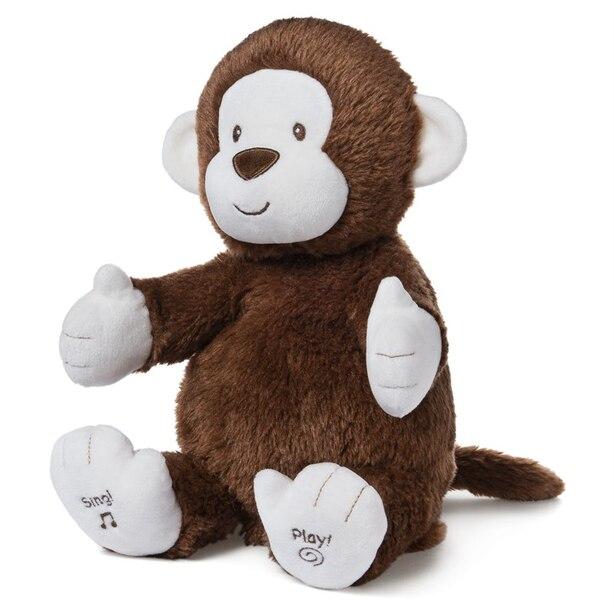 Gund® Interactive Plush Clappy Monkey Brown 12''