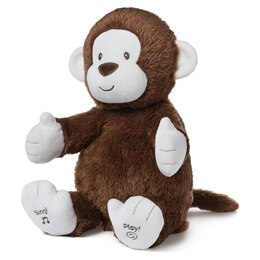 Baby GUND Animated Clappy Monkey Singing and Clapping Plush Stuffed Animal, Brown, 12""