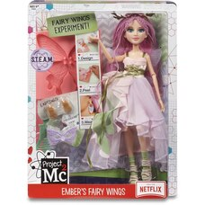 Project Mc2 Experiments with Doll- Ember's Fairy Wing Earrings