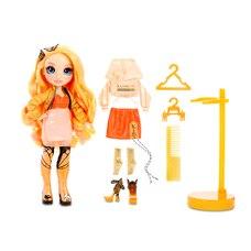 Rainbow High Poppy Rowan : poupée-mannequin orange avec 2 tenues