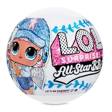 L.O.L. Surprise All-Star B.B.s Sports Series 1 Baseball Sparkly Dolls with 8 Surprises