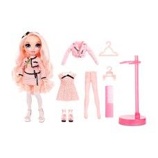Rainbow High Bella Parker : poupée-mannequin rose avec 2 tenues complètes et accessoires à agencer…
