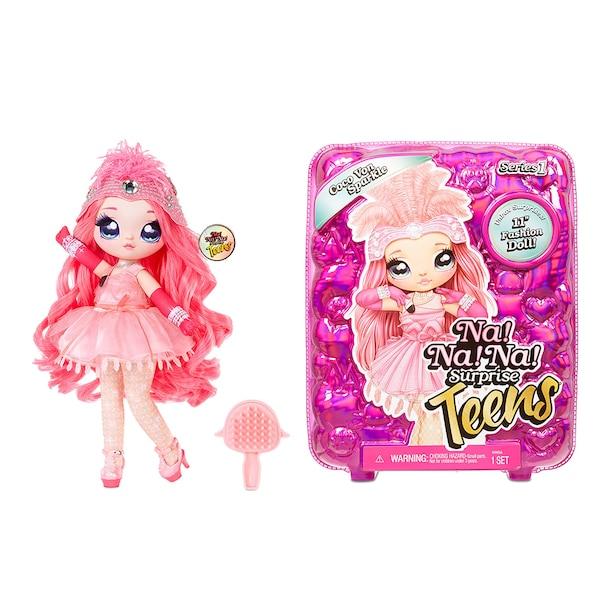 "Na Na Na Surprise Teens Fashion Doll – Coco Von Sparkle, 11"" Soft Fabric Doll, Flamingo Inspired"