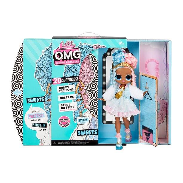 Poupée-mannequin Sweets LOL Surprise OMG – Ensemble de poupée à vêtir avec 20 surprises pour les filles et les enfants de 4 ans et +