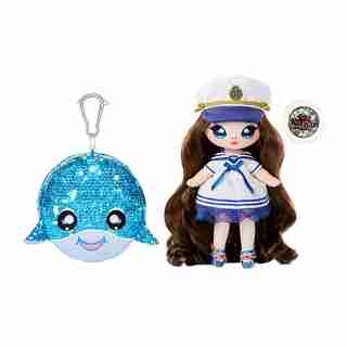 "Na! Na! Na! Surprise 2-in-1 Fashion Doll and Sparkly Sequined Purse Sparkle Series – Sailor Blu, 7.5"" Sailor Doll"