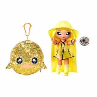 "Na! Na! Na! Surprise 2-in-1 Fashion Doll and Sparkly Sequined Purse Sparkle Series – Daria Duckie, 7.5"" Raincoat Doll"