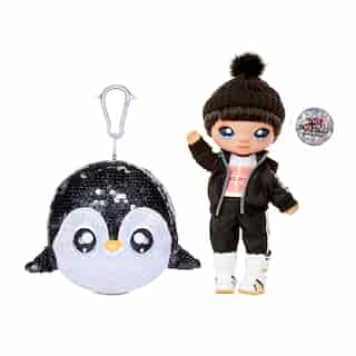 "Na! Na! Na! Surprise 2-in-1 Boy Fashion Doll and Sparkly Sequined Purse Sparkle Series – Andre Avalanche, 7.5"" Penguin Boy Doll"