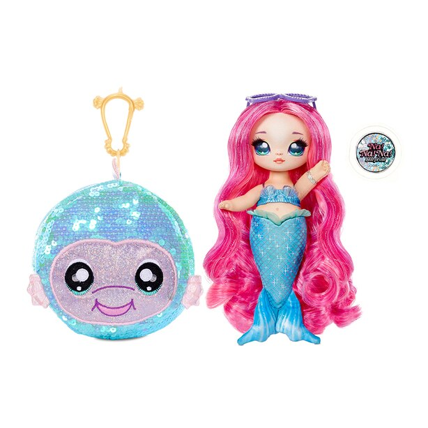 """Na! Na! Na! Surprise 2-in-1 Fashion Doll and Sparkly Sequined Purse Sparkle Series – Marina Jewels, 7.5"""" Mermaid Doll"""