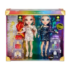 Rainbow High Special Edition Twin 2-Pack Fashion Dolls, Laurel & Holly De'Vious