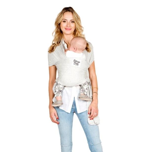 Écharpe porte-bébé Beluga Baby – modèle Rachel–gris pâle chiné