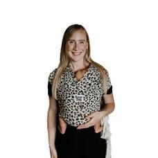 Écharpe porte-bébé Beluga Baby – modèle Lana–léopard