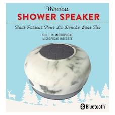 WATERPROOF BLUETOOTH SHOWER SPEAKER MARBLE