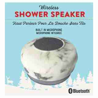 WATERPROOF BLUETOOTH SHOWER SPEAKER MARBLE
