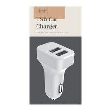 Common Craft USB Car Charger White