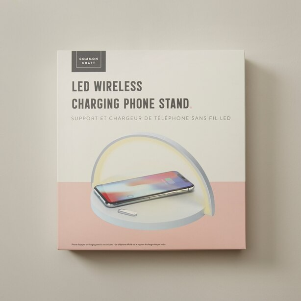 LED WIRELESS CHARGING PHONE STAND