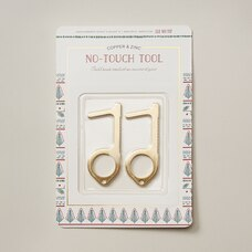 COPPER AND ZINC NO TOUCH KEYS SET OF 2