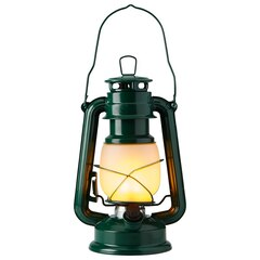 Fireglow Hurricane Lantern – Dark Green