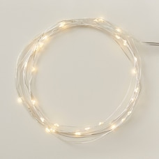 LED MICRO FAIRY LIGHTS – SILVER STRING, 10 FT