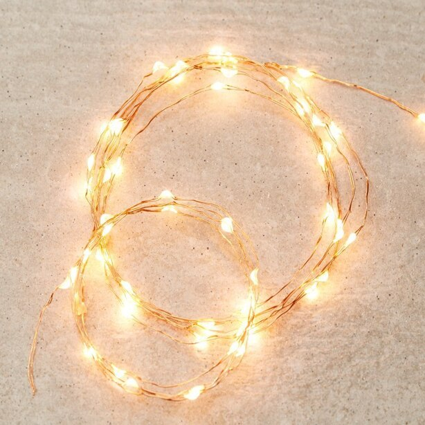 LED MICRO FAIRY LIGHTS – GOLD STRING, 10 FT