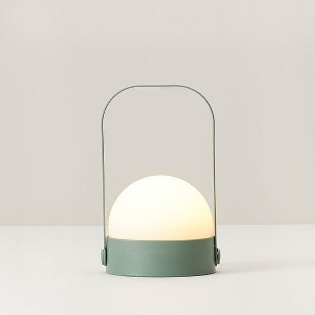 SMALL ORB LED LANTERN GREEN