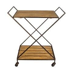 Chariot-bar–Bois et métal