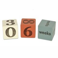 Baby Age Blocks - Orange & Blue