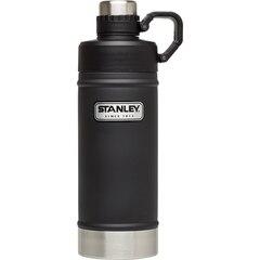 Stanley Classic Vacuum Water Bottle – Matte Black, 18 oz.