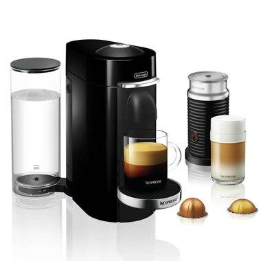 Nespresso Vertuo Plus Deluxe Coffee and Espresso Machine with Aeroccino by De'Longhi - Black