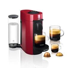 Nespresso Vertuo Plus Coffee and Espresso Machine by De'Longhi - Red